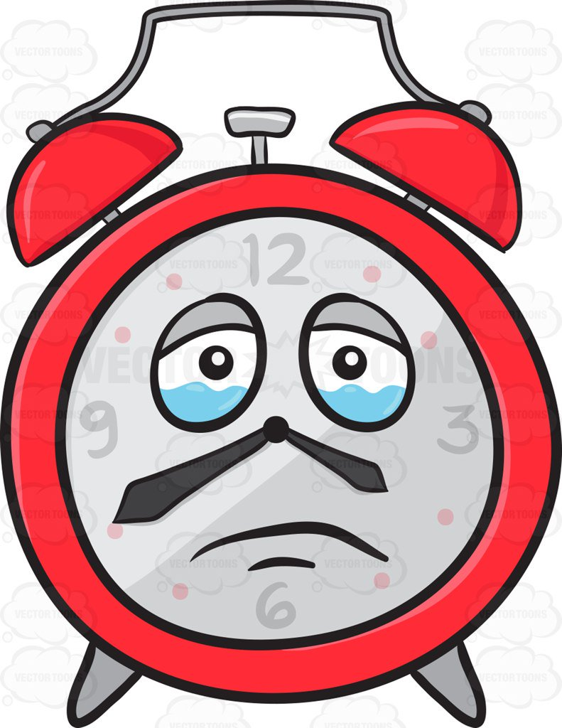 791x1024 Sad Looking Alarm Clock About To Cry Emoji Cartoon Clipart