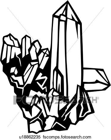 373x470 Clipart Of , Crystal, Quartz, Sea, Environmental, U18862235