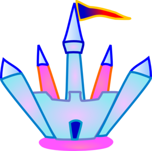 299x297 Blue And Pink Crystal Castle Clip Art