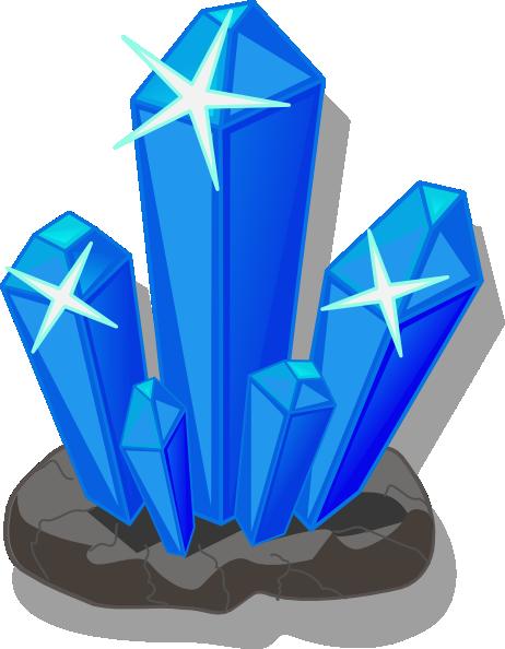 462x594 Crystals Clip Art