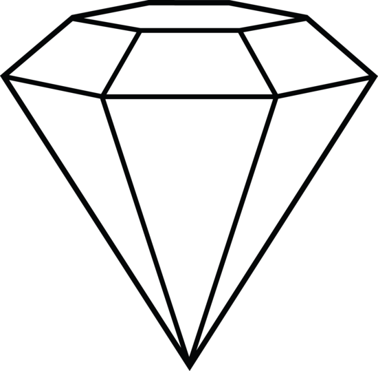 550x539 Diamond Line Art