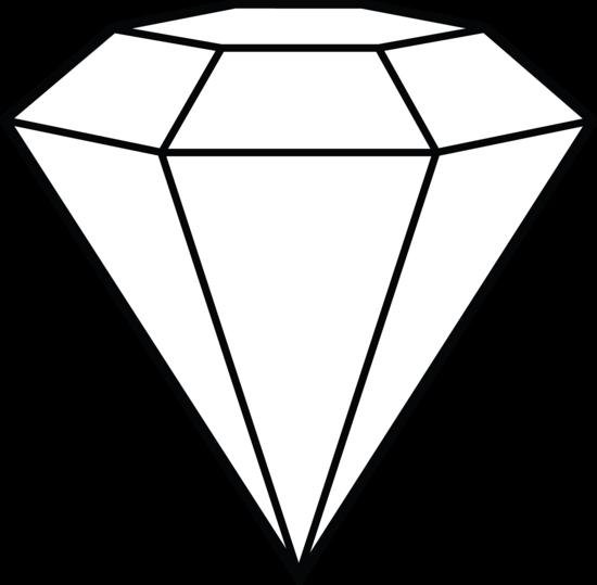 550x539 Diamond Line Art