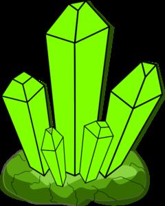 240x299 Green Crystal Clip Art