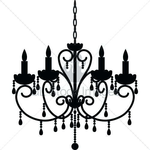 500x500 Stock Illustration Chandelier Outline Silhouette Clipart