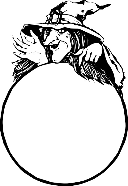 414x600 Witch With Crystal Ball Clip Art Free Vector In Open Office