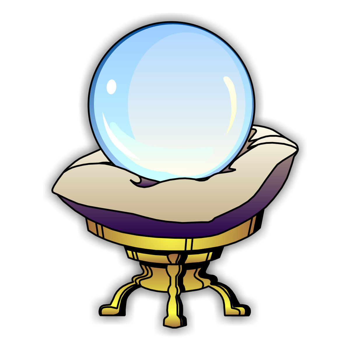 1200x1200 Clipart Crystal Ball Free Clipartfest