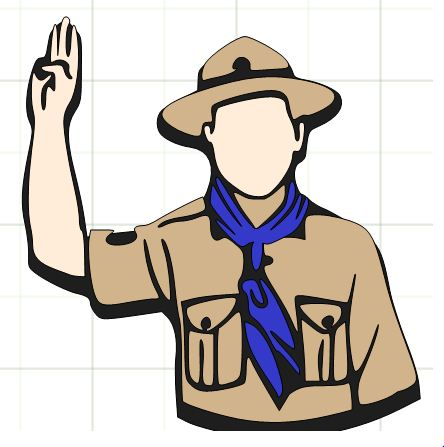 444x447 Hiking Clipart Salute
