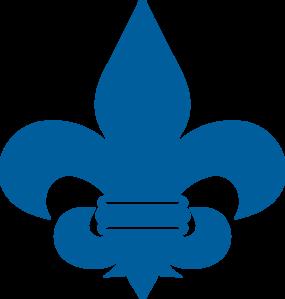 285x299 Cub Scout Blue Fleur De Lis Clip Art