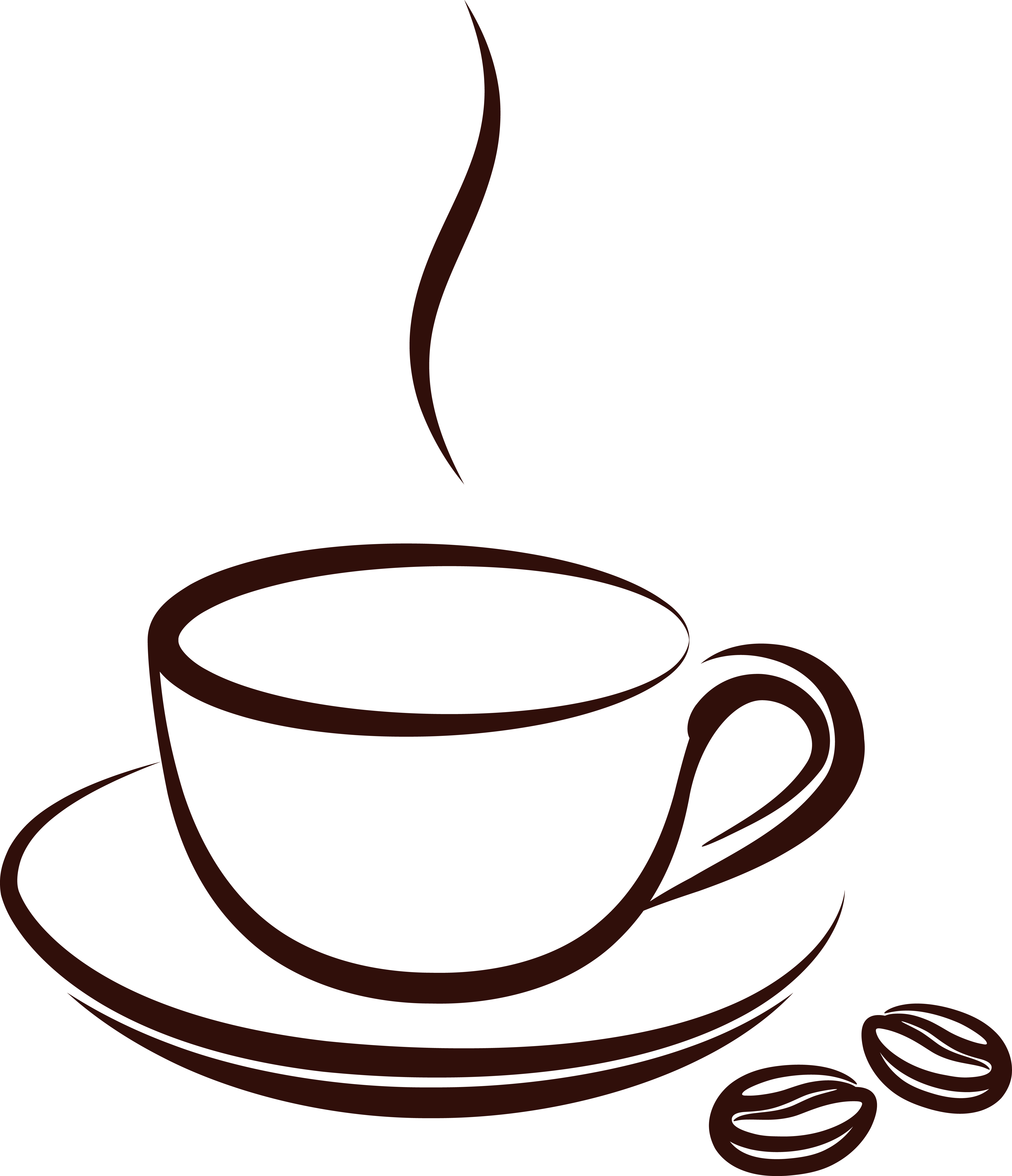 4769x5539 Coffee Cup Vector Free Clip Art