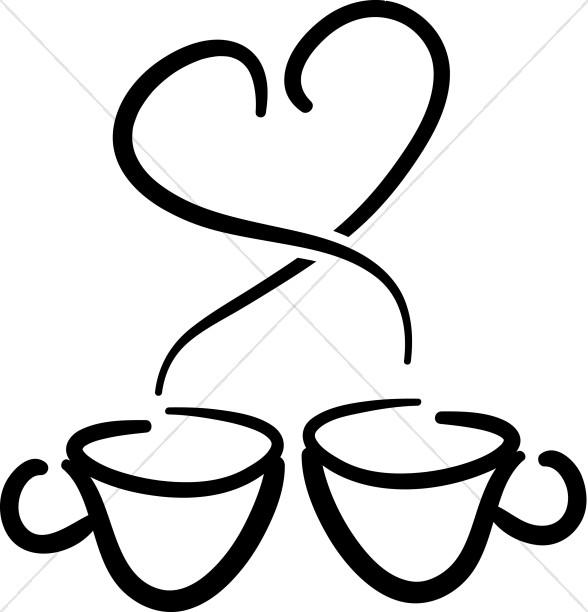 588x612 Steam Clipart Coffee Mug