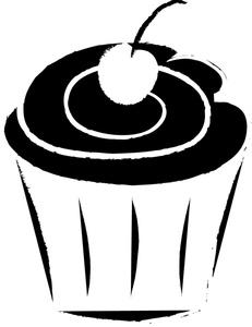 231x300 Cupcake Outline Clip Art Cupcake Clip Art Images Cupcake Stock