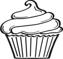 Cupcake Clipart Black And White | Free download on ClipArtMag