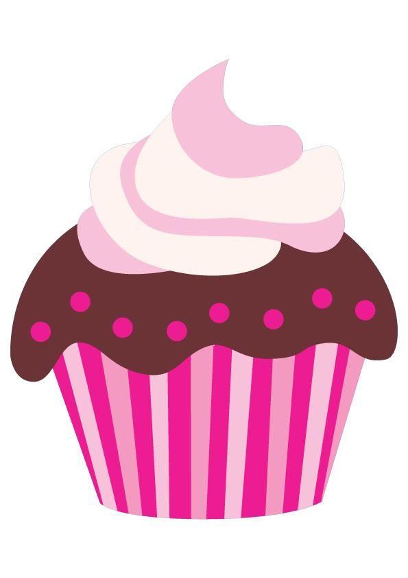595x842 Cupcake Clip Art On Cupcake Art Cupcake Illustration Clipartix