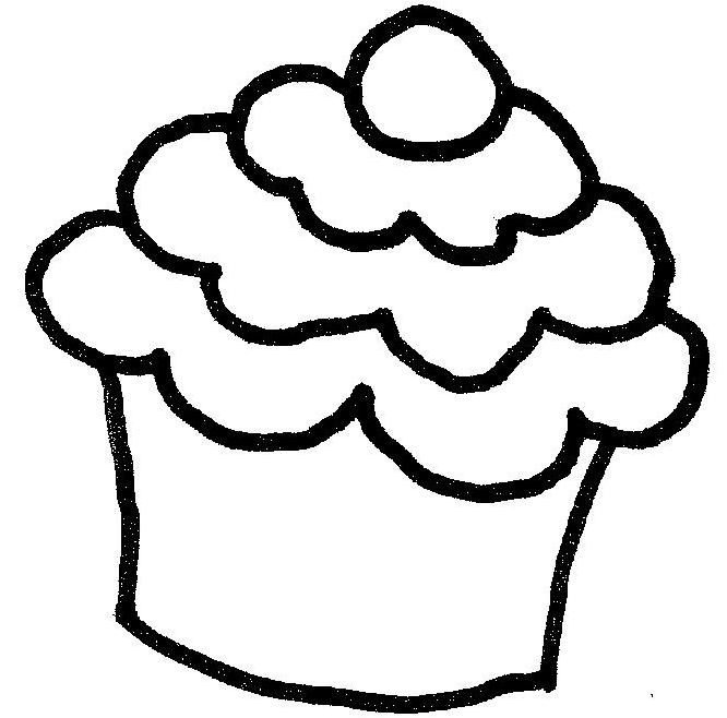Cupcake Clipart Outline Free Download Best Cupcake Clipart Outline