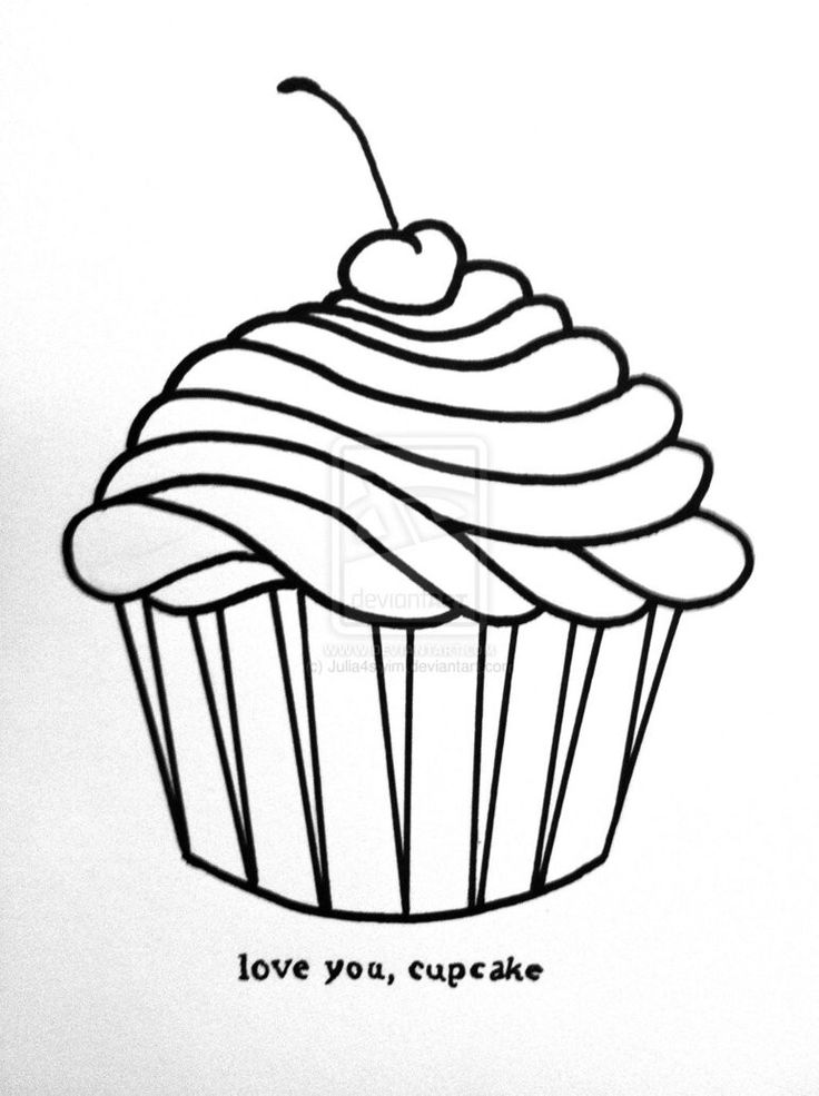 Cupcake Draw Free Download Best Cupcake Draw On Clipartmag Com