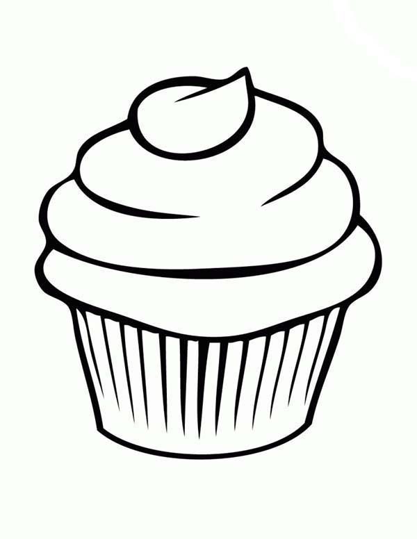Cupcake Line Art