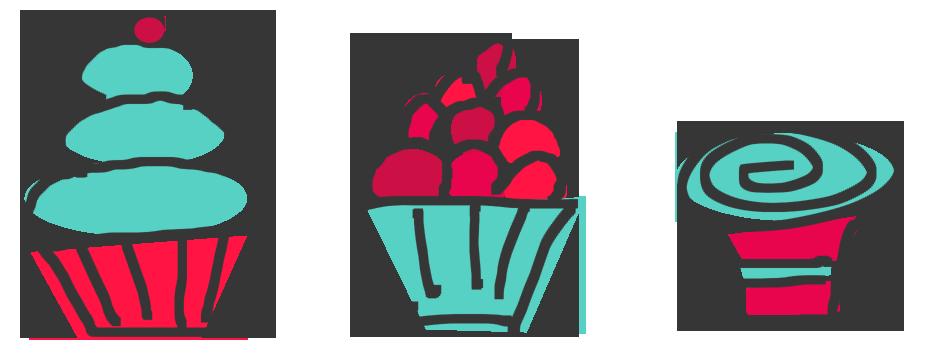 938x353 Cupcake Clipart Three