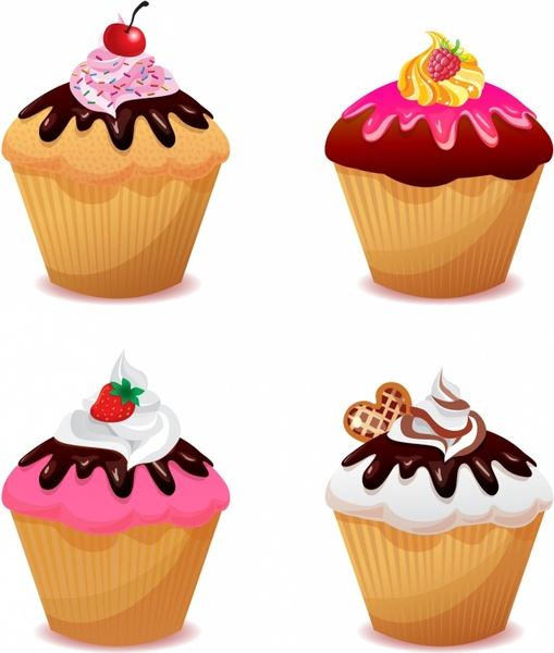 509x600 Cupcake Vector Free Vector Download (131 Free Vector)