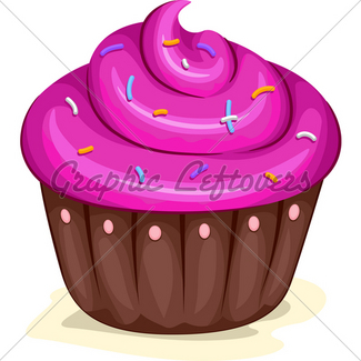 325x325 Cupcakes Border Gl Stock Images