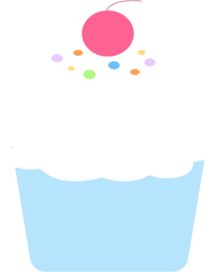 304x383 Cupcakes Clipart Border Free Images 2