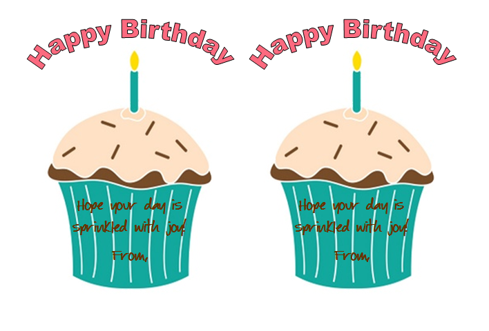 708x480 Stickers And Stamps Birthdays And Cupcakes