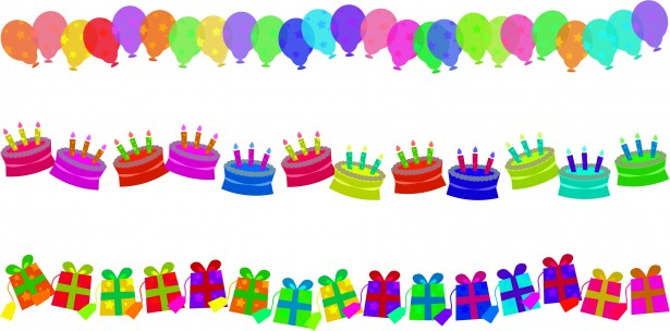 615x304 Birthday Candle Border Clipart