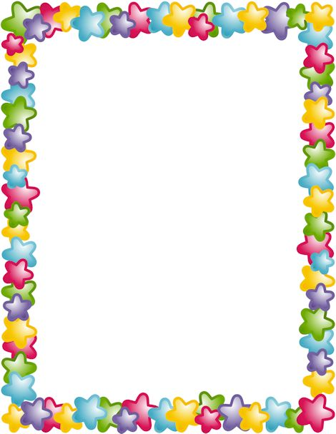 470x608 Colorful Page Borders S
