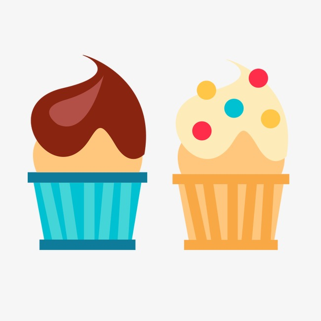 650x650 Cartoon Cupcakes, Paper Cups, Cake, Cartoon Png Image For Free