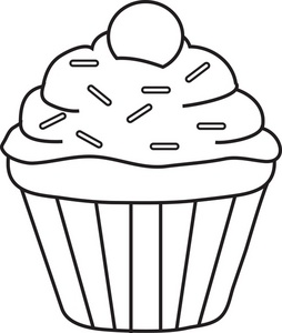 254x300 Drawing Clipart Cupcake