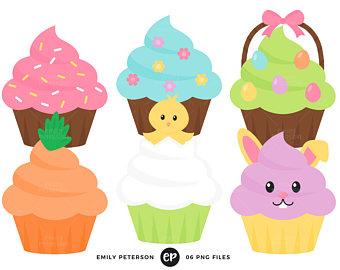 340x270 Fun Cupcakes Clipart Set
