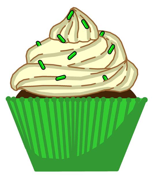 566x615 Cupcakes Clip Art