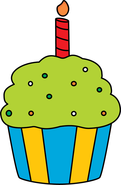 393x600 Birthday Cupcake Clip Art