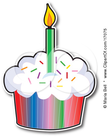 358x450 Birthday Cupcake Clip Art