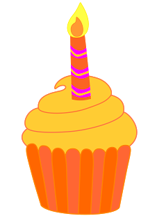 226x320 Candle Clipart Cupcake
