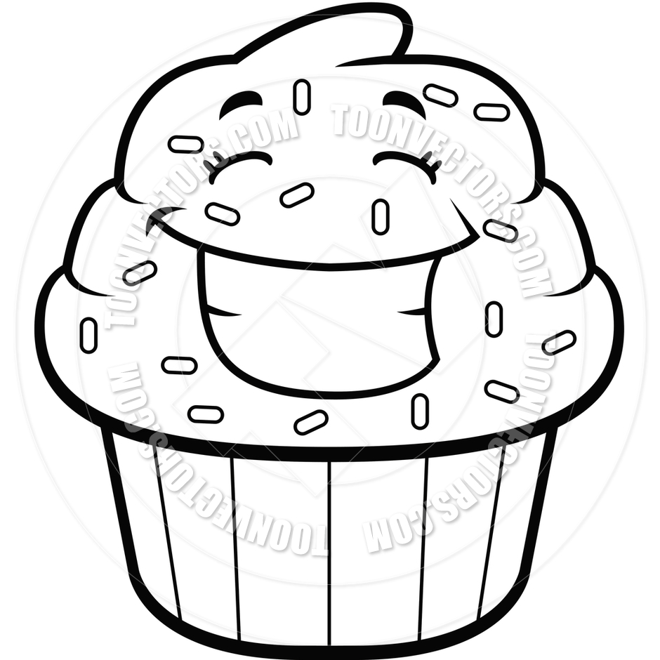 940x940 20 Black And White Cupcake Vector Art Images