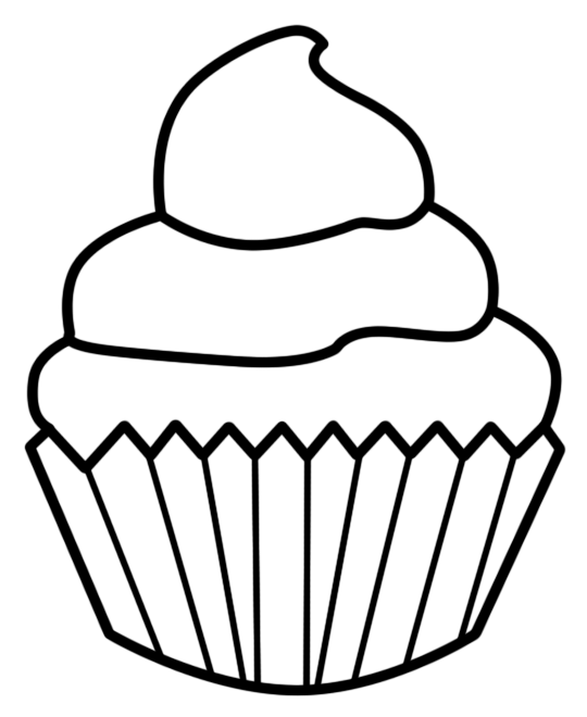 540x660 Cupcake Outline Clip Art Clipart 6