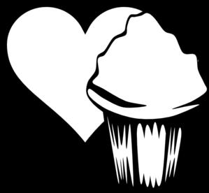 299x276 Heart Cupcake Image Clip Art
