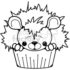 300x300 Royalty Free Cupcake Hedgehog 387246 Vector Clip Art Image