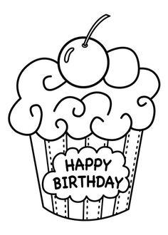 236x330 Small Black And White Birthday Cake Coloring Food Yiyecek