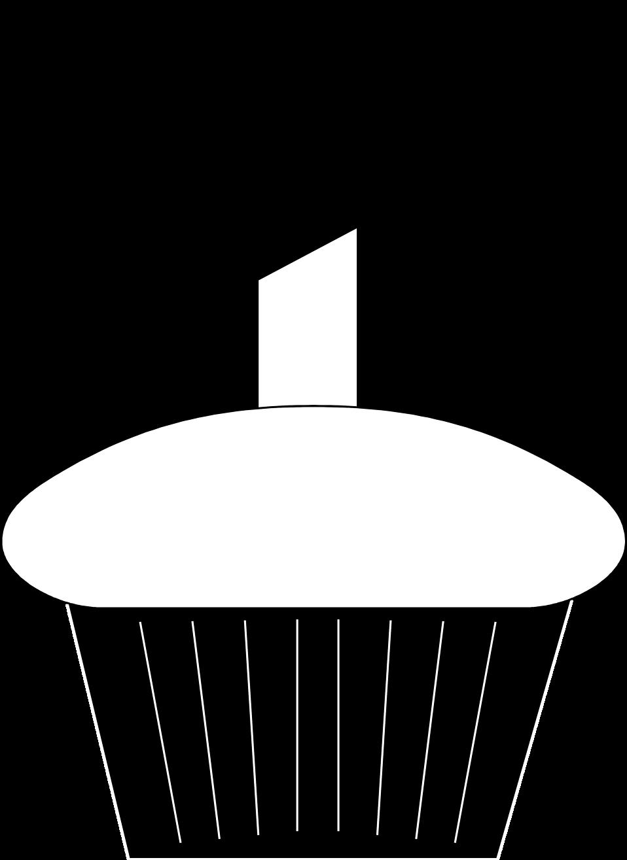 958x1315 Birthday Cupcake Clip Art Black And White