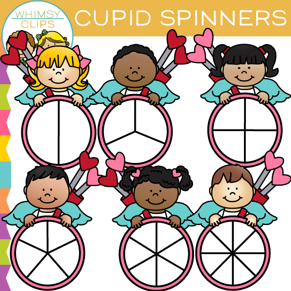 600x600 Cupid Spinners Clip Art , Images Amp Illustrations Whimsy Clips