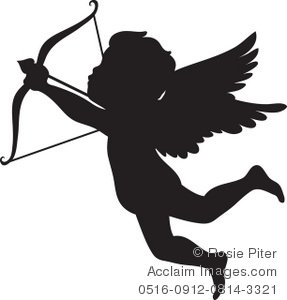 287x300 Illustration Of A Silhouette Of Cupid Shooting An Arrow