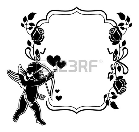 Cupid Clipart Black And White