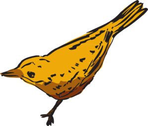 299x255 Curious Yellow Bird Clip Art