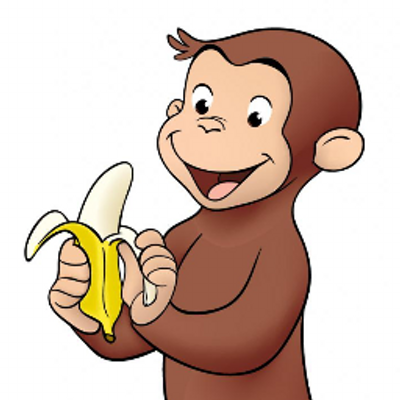 400x400 Banana Clipart Curious George