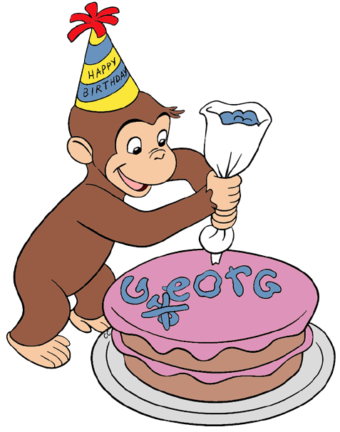 477x606 Birthday Clipart Curious George