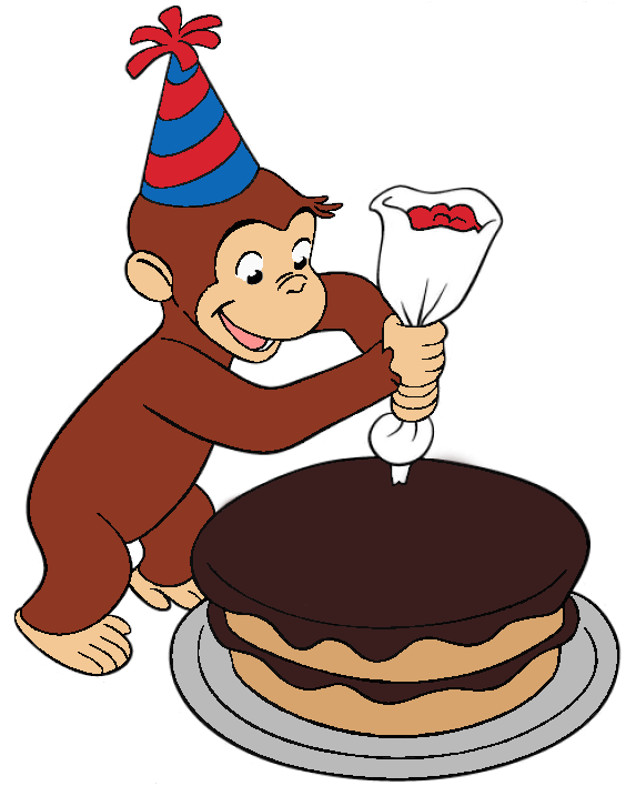 573x708 Cake Clipart Curious George