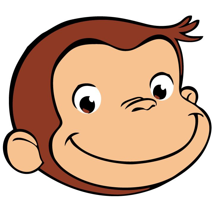 720x720 Free Printable Curious George Clipart
