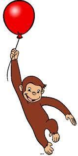 159x317 Free Printable Monkey Clip Art Curious George Clipart