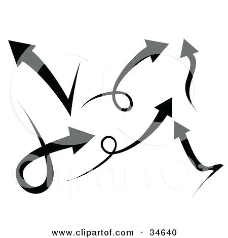 Curved Arrows Clipart